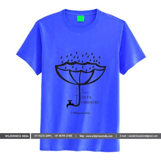 Wilderness India - merchandise -save water tee shirt