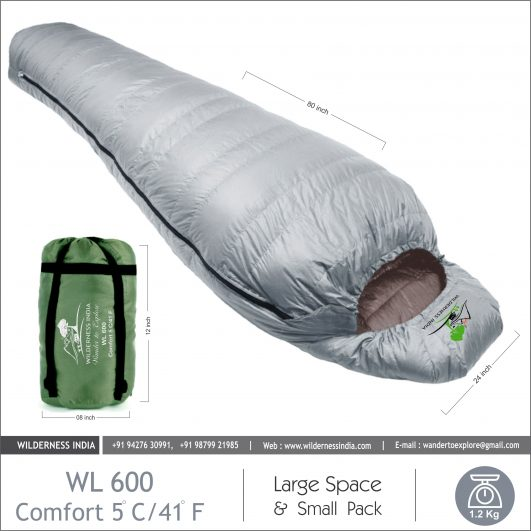 WIlderness Grey Sleeping Bag